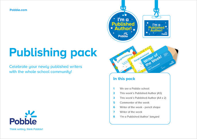 Pobble publishing pack cover